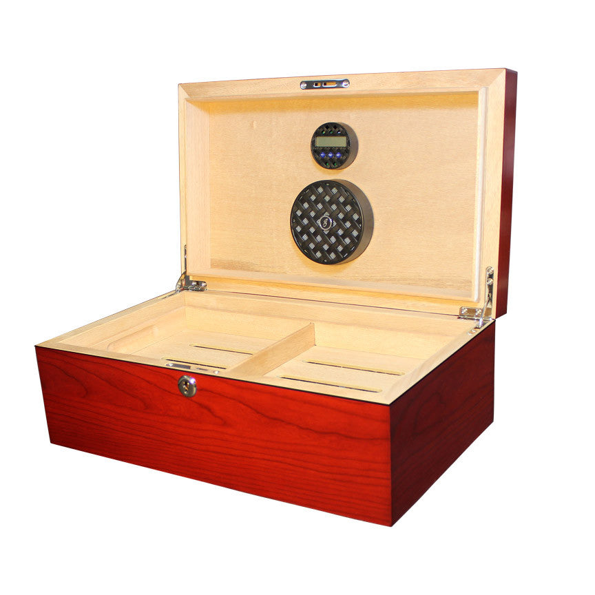 Solstice 75 Count Humidor Cherry - Brigham & More