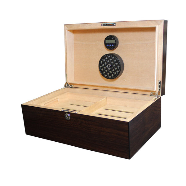 Solstice 75 Count Humidor Dark Walnut - Brigham & More