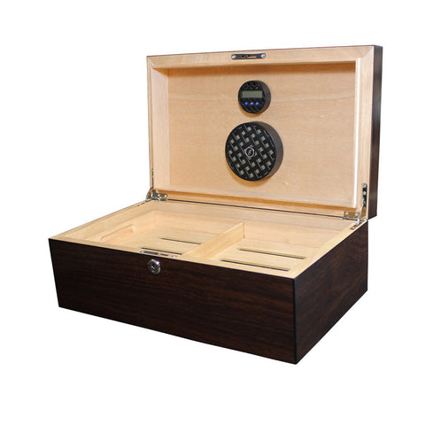 Solstice 75 Count Humidor Dark Walnut