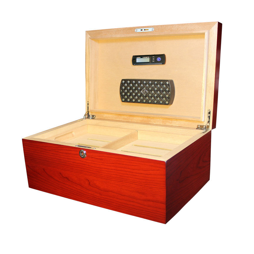 Millennium 125+ Count Humidor Cherry - Brigham & More