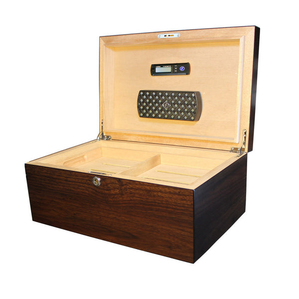 Millennium 125+ Count Humidor Dark Walnut - Brigham & More
