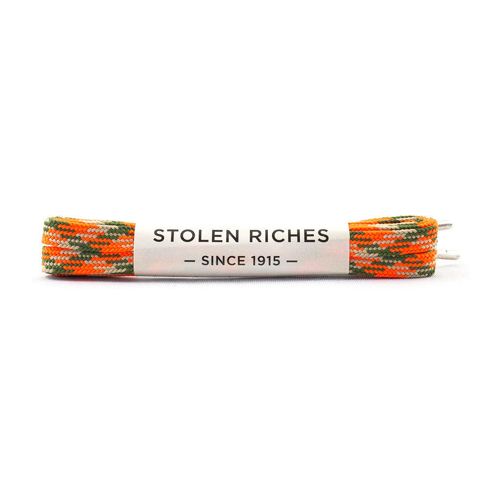 Stolen Riches Sneaker Laces - Camo Orange