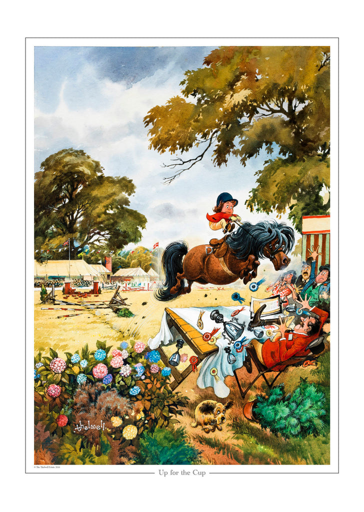 Laughter and Landscapes. New Thelwell Exhibition at Mottisfont Abbey 2019
