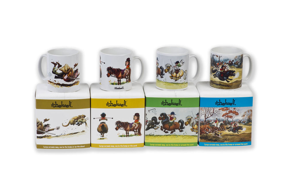 Ideal for horsey types: Liven up your tea break with a mug featuring nostalgic Thelwell illustrations