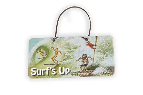 """Surfs Up"" Door Sign by Thelwell. Surfing Gift"