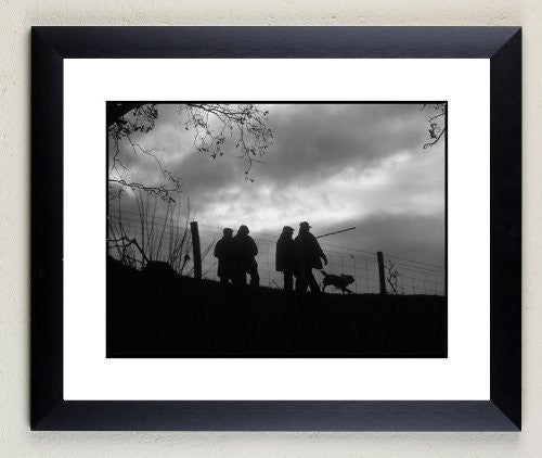 """Beaters Going Home"" signed limited edition photographic shooting print by Charles Sainsbury-Plaice"