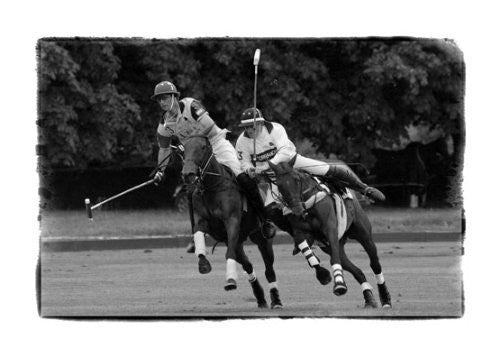 """The Ride Off"" signed limited edition photographic polo sport print by Charles Sainsbury-Plaice"