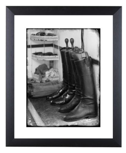 """Huntsmans Boots"" signed limited edition photographic hunting print by Charles Sainsbury-Plaice"