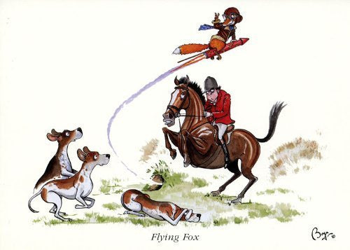 Horse riding greeting card by Bryn Parry