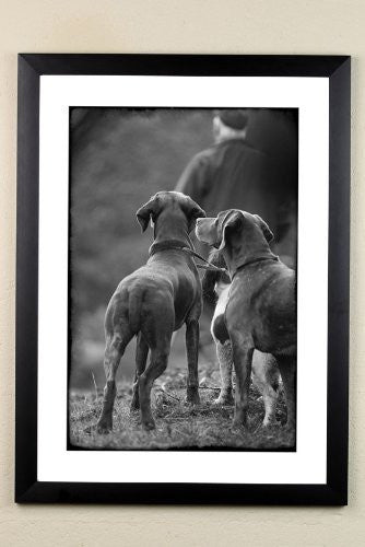 """The Picking Up Team"" signed limited edition photographic shooting print by Charles Sainsbury-Plaice"