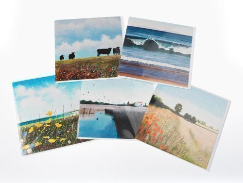 Country landscape greeting card collection by Heather Blanchard. 5 stunning l...