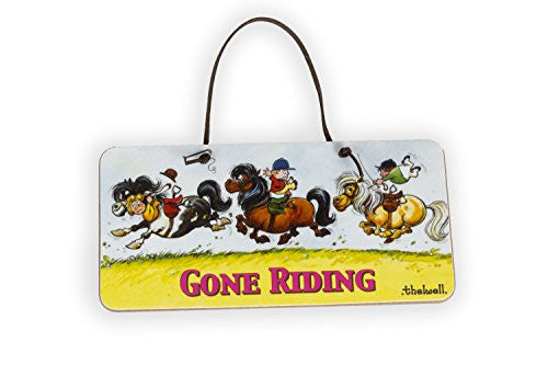 """Gone Riding"" Door Sign by Thelwell. Gifts for children who ride"