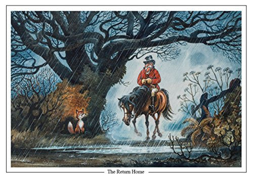 "Horse, Fox and Hunting Greeting Card ""The Return Home"" by Norman Thelwell"
