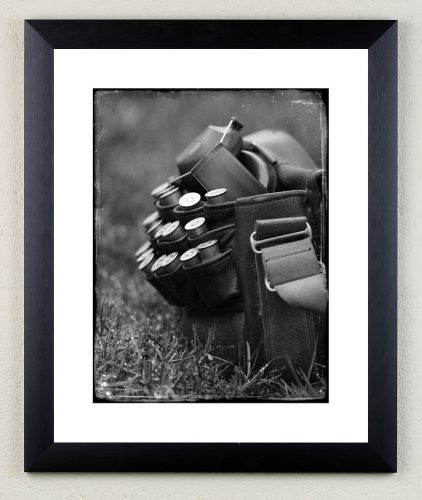 """Cartridge Bag"" signed limited edition photographic shooting print by Charles Sainsbury-Plaice"