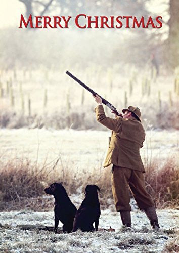 """Boxing Day Shoot"" shooting and country themed Christmas Card by Charles Sainsbury-Plaice. Large A5 size with envelope."