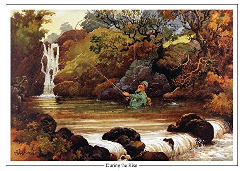 """During the Rise"" by Norman Thelwell A5 Fishing Greeting Card with Envelope"