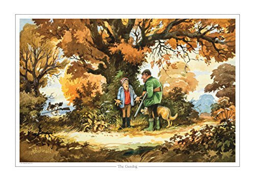 The Gundog by Norman Thelwell. Collector's print. Copied from orig...