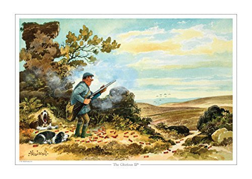 The Glorious 12th by Norman Thelwell. Collector's print. Copied from origin...