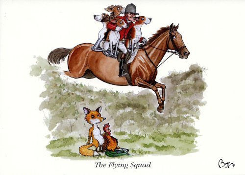 Horse riding greeting card by Bryn Parry. The Flying Squad