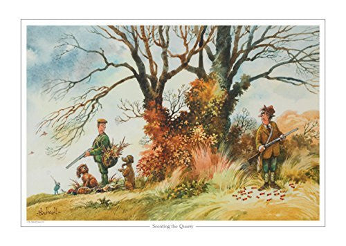 Scenting the Quarry by Norman Thelwell. Collector's print. Copied from orig...
