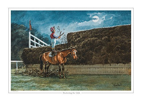 Shortening the Odds by Norman Thelwell. Collector's print. Copied from orig...
