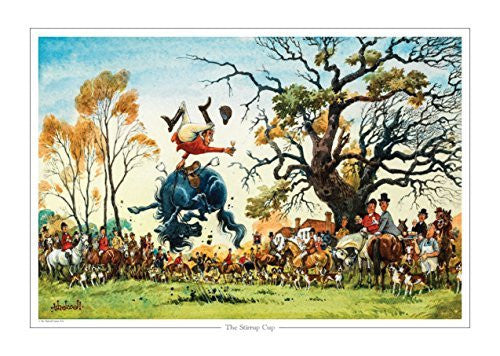 The Stirrup Cup by Norman Thelwell. Collector's print. Copied from original...