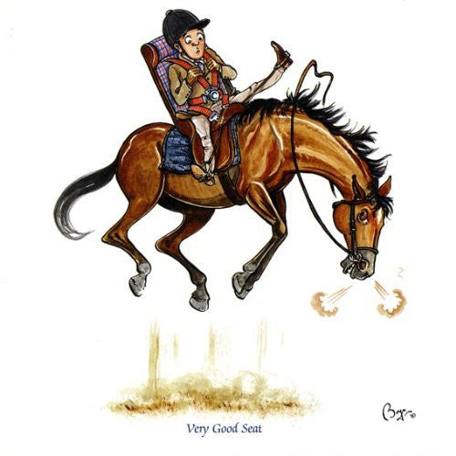 Horse riding greeting card by Bryn Parry. Very Good Seat