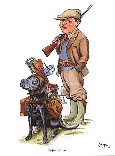 Perfect Partner funny shooting and labrador Greeting Card by Bryn Parry