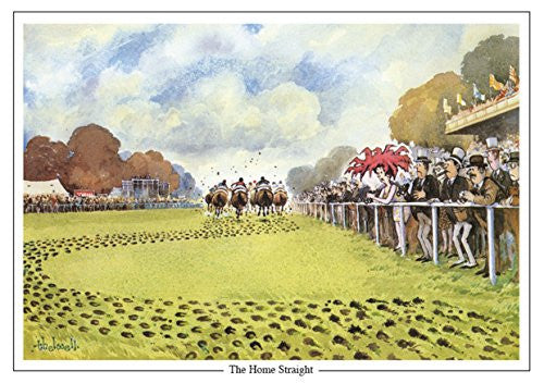 "Horse Racing Greeting Card ""The Home Straight"" by Norman Thelwell"