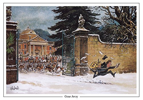 "Horse and Hunting Greeting Card ""Gone Away"" by Norman Thelwell"