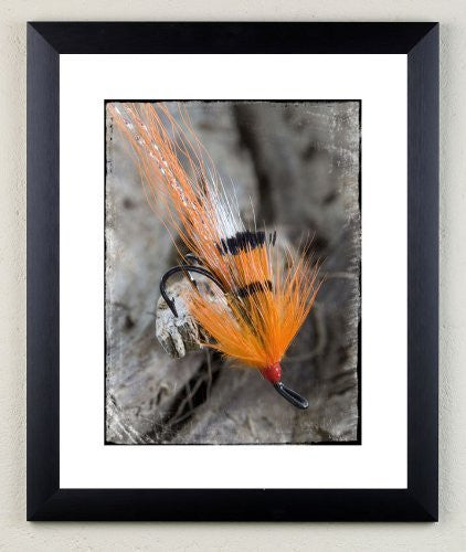 """Ally Shrimp"" signed limited edition photographic fishing fly print by Charles Sainsbury-Plaice"
