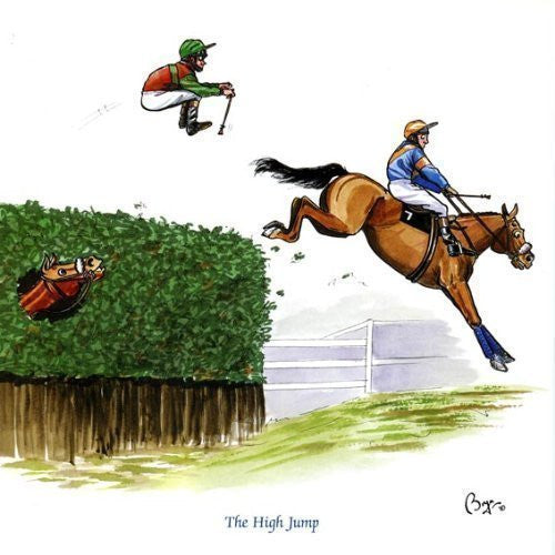 Horse riding greeting card by Bryn Parry. The High Jump