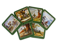 Set of six Thelwell Shooting Coasters