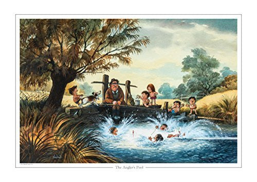 The Anglers Pool by Norman Thelwell. Collector's print. Copied from origina...