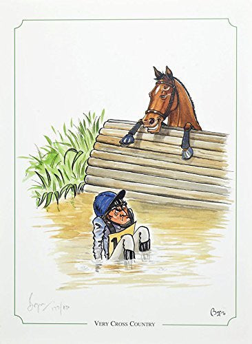 Limited edition horse riding, eventing print. Very Cross Country by Bryn Parry