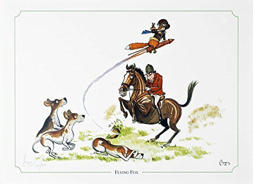 Limited edition hunting print. Flying Fox by Bryn Parry