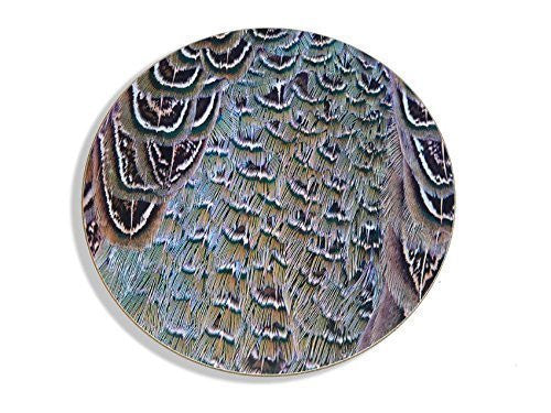 1 Hen pheasant plumage style placemat, table mat or serving mat. Made from he...