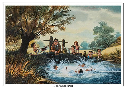 """The Anglers Pool"" by Norman Thelwell A5 Fishing Greeting Card with Envelope"