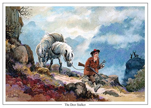 deer stalking cartoon greeting by Thelwell