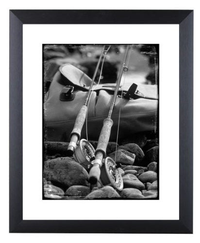 """Seatrout and Salmon"" signed limited edition photographic fly fishing print by Charles Sainsbury-Plaice"