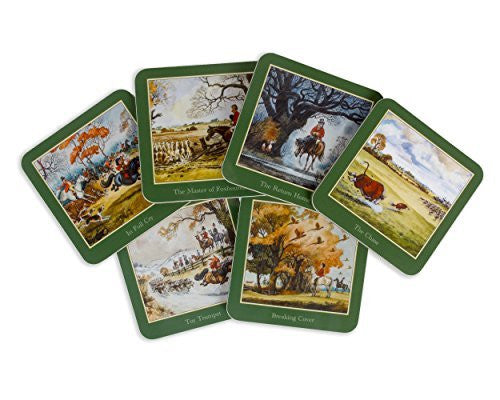 Set of six Thelwell Hunting Coasters
