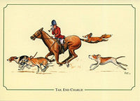 Fox hunting notecard pack by Bryn Parry. Tail End Charlie