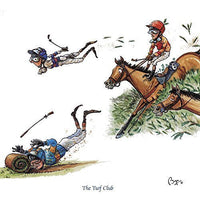 Horse riding greeting card by Bryn Parry. The Turf Club