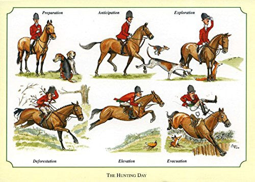 Fox Hunting Notecards by Bryn Parry. The Hunting Day