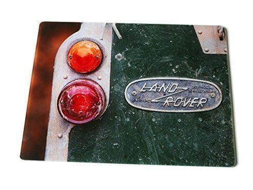 Kitchen worktop surface protector, made from glass. Old Land Rover