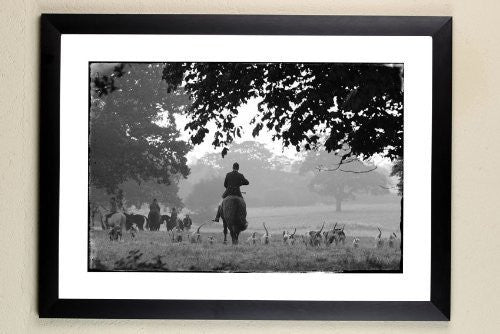 """Autumn Hunting"" signed limited edition photographic fox hunting print by Charles Sainsbury-Plaice"
