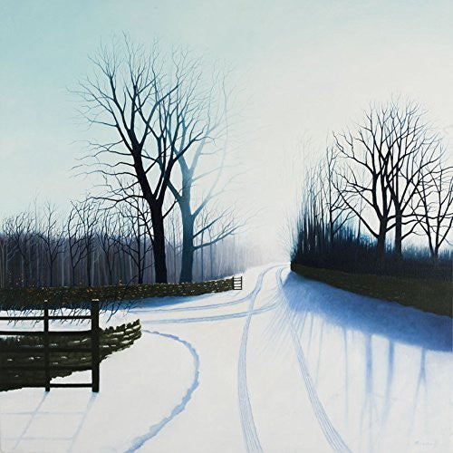 Winter landscape greeting card. Winter light