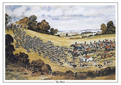 "Horse and Hunting Greeting Card ""The Meet"" by Norman Thelwell"