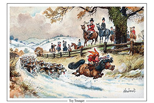 "Horse and Hunting Greeting Card ""Toy Trumpet"" by Norman Thelwell"