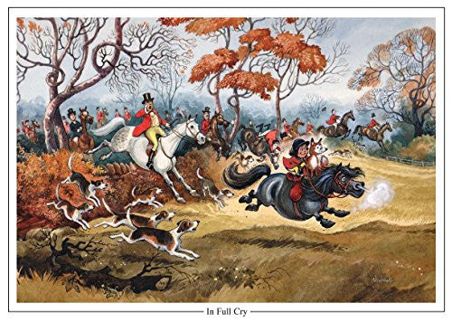 "Horse and Hunting Greeting Card ""In Full Cry"" by Norman Thelwell"
